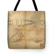 Steampunk Zepplin Tote Bag by James Christopher Hill