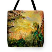 Steamy Cove Tote Bag