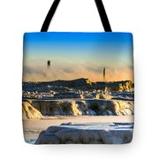 Steamy Iceburgs Tote Bag