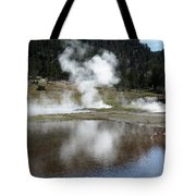 Steamy Reflections Tote Bag