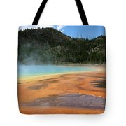 Steamy Yellowstone Tote Bag