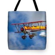 Stearman Biplane Tote Bag