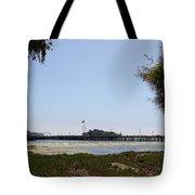 Stearns Wharf Santa Barbara Tote Bag