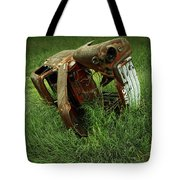 Steel Auto Carcass With Vultures Tote Bag