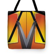 Steel Beams 02 Mirror Image Tote Bag