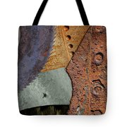 Steel Collage Tote Bag by Fran Riley