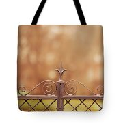 Steel Ornamented Fence Tote Bag