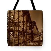 Steel Shadows Tote Bag
