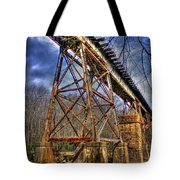 Steel Strong Rr Bridge Over The Yellow River Tote Bag