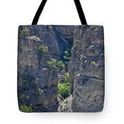 Steep Cliffs With Railroad Track Art Prints Tote Bag