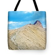 Steep Trail To Manly Beacon From Golden Canyon In Death Valley National Park-california  Tote Bag