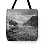 109629-bw-steeple And Temple Peaks, Wind Rivers Tote Bag