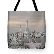 Steeples In The Snow Tote Bag