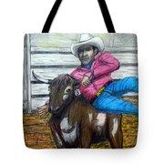 Steer Wrestling Original For Sale Tote Bag