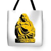 Stencil Buddha Yellow Tote Bag by Pixel Chimp