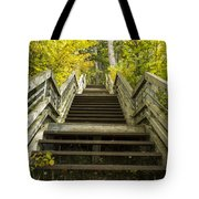 Step Trail In Woods 10 Tote Bag