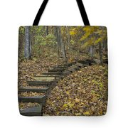 Step Trail In Woods 12 Tote Bag