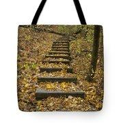 Step Trail In Woods 14 Tote Bag
