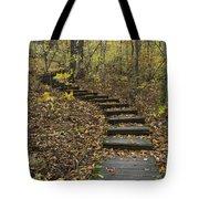 Step Trail In Woods 15 Tote Bag