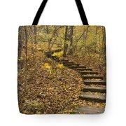 Step Trail In Woods 16 Tote Bag