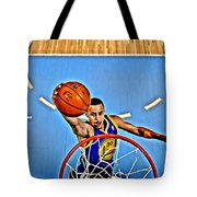 Steph Curry Tote Bag by Florian Rodarte