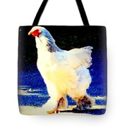 I'm Stepping Forward Out Of The Blue  Tote Bag
