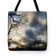 Stepping Over The Sun Tote Bag