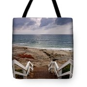 Steps And Pelicans Tote Bag
