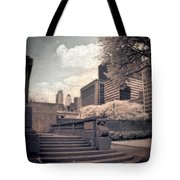 Steps In A City Park Tote Bag