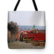 Steps Of Prague Tote Bag