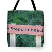 Steps To The Beach Tote Bag