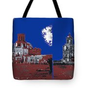 Stereo Card San Xavier Mission  Charles Fariot Photo C.1890 Tote Bag