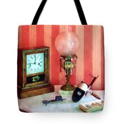 Stereopticon Lamp And Clock Tote Bag