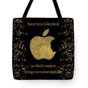 Steve Jobs Quote Original Digital Artwork Tote Bag