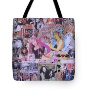 Stevie Nicks Art Collage Tote Bag