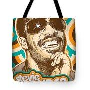 Stevie Wonder Pop Art Tote Bag