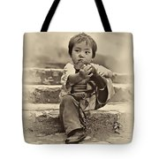 Sticky Boot Antique Sepia Tote Bag