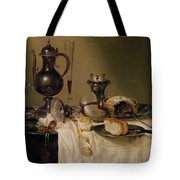 Still Life, 1642 Oil On Canvas Tote Bag