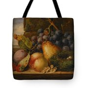 Still Life Grapes Pares Birds Nest Tote Bag by Edward Ladell