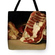Still Life Of Sheep's Ribs And Head Tote Bag by Francisco Jose de Goya y Lucientes