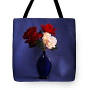 Still Life Red White And Blue Tote Bag