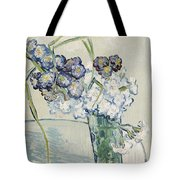 Still Life Vase Of Carnations Tote Bag