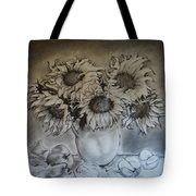 Still Life - Vase With 6 Sunflowers Tote Bag