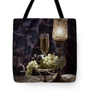 Still Life Wine With Grapes Tote Bag