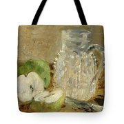 Still Life With A Cut Apple And A Pitcher Tote Bag
