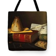 Still Life With A Writing Table Tote Bag