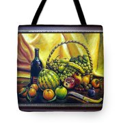 Still Life With Basket Tote Bag