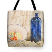 Still-life With Blue Bottle Tote Bag