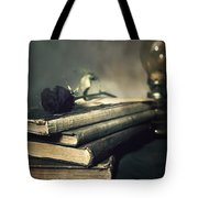 Still Life With Books And Roses Tote Bag