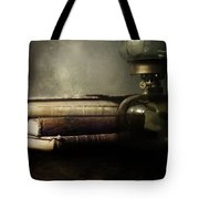 Still Life With Books And The Lamp Tote Bag